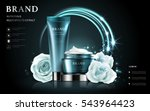 cosmetic set ads  white rose... | Shutterstock .eps vector #543964423
