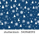 seamless pattern with christmas ... | Shutterstock .eps vector #543968593