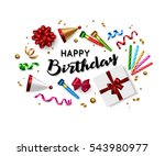 birthday background with... | Shutterstock .eps vector #543980977
