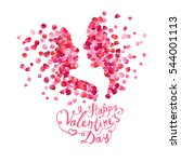 happy valentine's day card | Shutterstock .eps vector #544001113