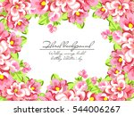 romantic invitation. wedding ... | Shutterstock . vector #544006267