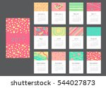 vector calendar 2017 with hand... | Shutterstock .eps vector #544027873