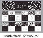 vector calendar 2017 with hand...   Shutterstock .eps vector #544027897