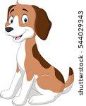 Stock vector cartoon funny dog sitting 544029343