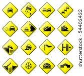 road sign glossy vector  set 3... | Shutterstock .eps vector #54403432