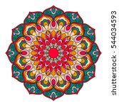 mandala. ethnic decorative... | Shutterstock .eps vector #544034593