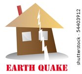 earth quake icon vector