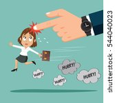 big boss hand with watch... | Shutterstock .eps vector #544040023