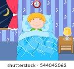 cartoon boy sleeping | Shutterstock .eps vector #544042063