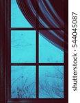 Grunge Wooden Window Frame Wit...
