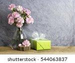 pink carnation flowers in...   Shutterstock . vector #544063837