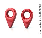 two red map pins 3d... | Shutterstock . vector #544080307