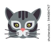 cat animal carnival mask vector ...