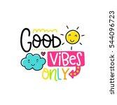 vector poster with phrase  sun... | Shutterstock .eps vector #544096723