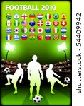 global 2010 soccer match with...   Shutterstock .eps vector #54409942