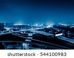 aerial view of suzhou overpass... | Shutterstock . vector #544100983