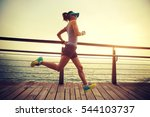 young fitness sports woman ... | Shutterstock . vector #544103737