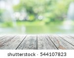 empty wooden table with party... | Shutterstock . vector #544107823