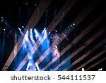 vintage style   defocused... | Shutterstock . vector #544111537