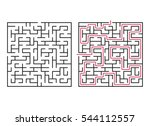 vector labyrinth. maze  ... | Shutterstock .eps vector #544112557