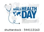 world health day concept poster | Shutterstock .eps vector #544113163