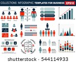 collection of infographic... | Shutterstock .eps vector #544114933