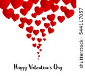 valentines day card. vector... | Shutterstock .eps vector #544117057