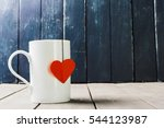 tea cup with blank label | Shutterstock . vector #544123987