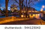 twilight on notre dame de paris ... | Shutterstock . vector #544125043
