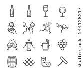 wine line icons set   Shutterstock .eps vector #544128217