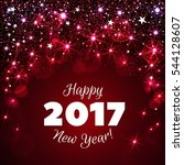 happy new year 2017 greeting... | Shutterstock . vector #544128607
