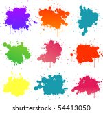 colorful paint splat | Shutterstock .eps vector #54413050