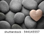 Heart Made Of Stone On Natural...