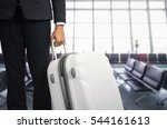 businessman and suitcase in the ... | Shutterstock . vector #544161613
