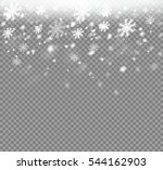 winter with snow in transparent ... | Shutterstock .eps vector #544162903
