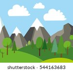 natural landscape in the flat... | Shutterstock .eps vector #544163683