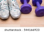healthy lifestyle concept with... | Shutterstock . vector #544166923