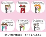 lover  groom and bride sweet... | Shutterstock .eps vector #544171663