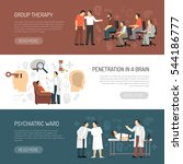 psychologist horizontal banners ...   Shutterstock .eps vector #544186777