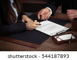notary with client in office | Shutterstock . vector #544187893