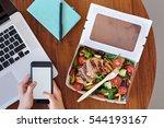 overhead of work station ... | Shutterstock . vector #544193167