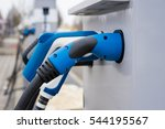electric vehicle charging...   Shutterstock . vector #544195567