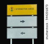 warning signs  traffic lights... | Shutterstock . vector #544201873