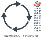 rotation pictograph with free... | Shutterstock .eps vector #544204273