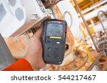 operator or worker recording... | Shutterstock . vector #544217467