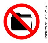 no folder sign illustration.  | Shutterstock .eps vector #544225057