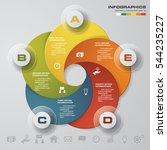 simple editable 5 steps chart... | Shutterstock .eps vector #544235227