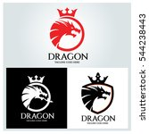 dragon logo design template ... | Shutterstock .eps vector #544238443
