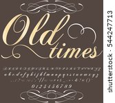 old times handcrafted vector...   Shutterstock .eps vector #544247713
