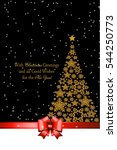 christmas tree from beautiful... | Shutterstock .eps vector #544250773